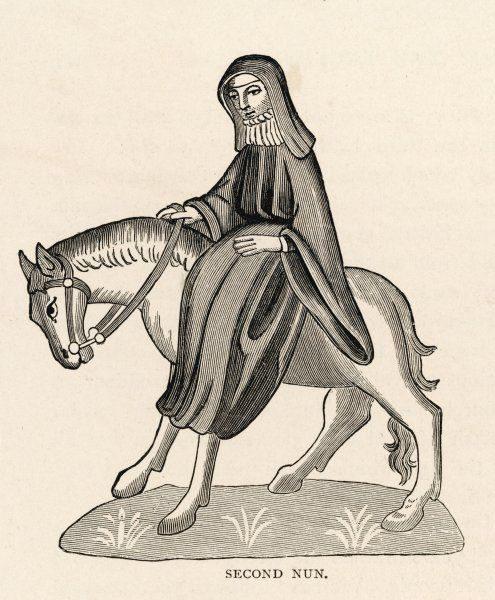 The Second Nun rides sidesaddle