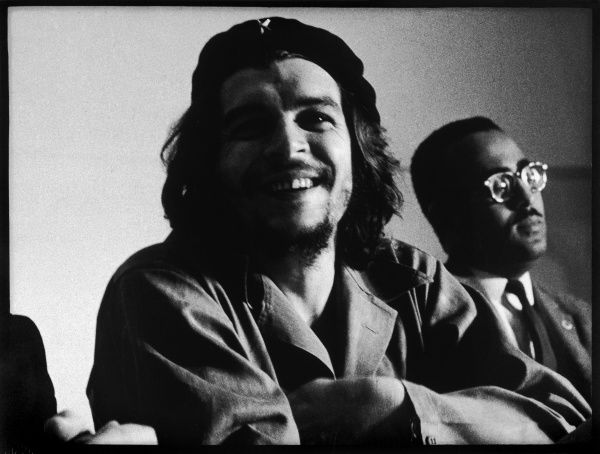 ERNESTO GUEVARA Known as CHE GUEVARA Latin American guerrilla leader and revolutionary theorist. A smiling Che wearing his beret. *UNAVAILABLE FOR USE IN ASIA AT PRESENT*
