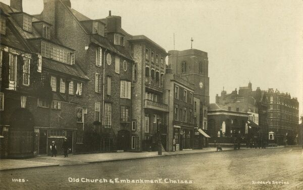 Chelsea Old Church and the Embankment, London