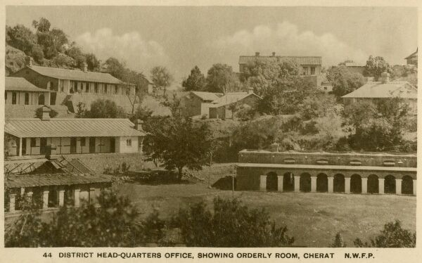 District Headquarters Office (showing Orderly Room) at Cherat - a hill station in Nowshera District in the North West Frontier Province (now Pakistan)