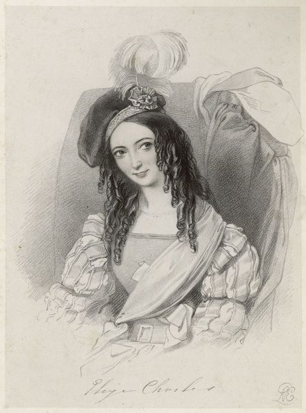 The actress Eliza Charles in the role of Cherubino in the opera The Marriage of Figaro