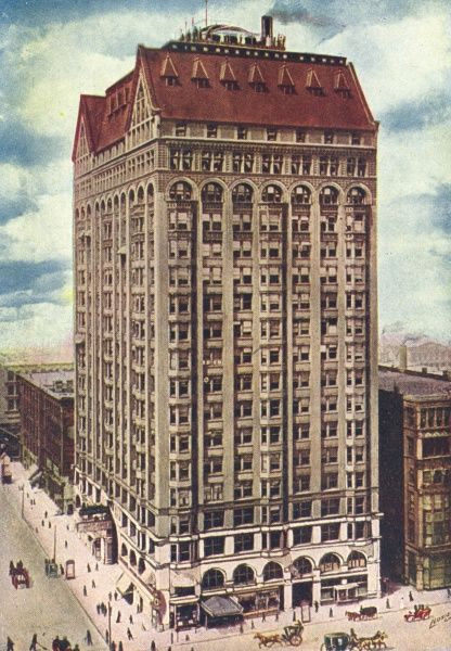 Chicago's Masonic Temple is 22 stories high. Date: 1916