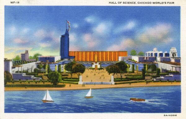 Chicago World Fair - Hall of Science. Date: 1933