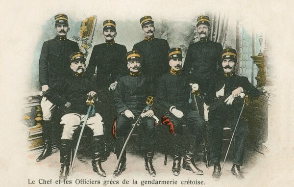 The Chief and Officers of the Cretan Police, Greece