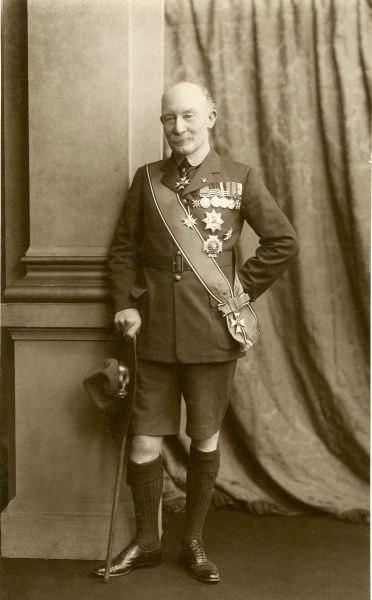 Chief Scout Lord Robert Baden Powell wearing his Scout uniform and decorations Date: circa 1929