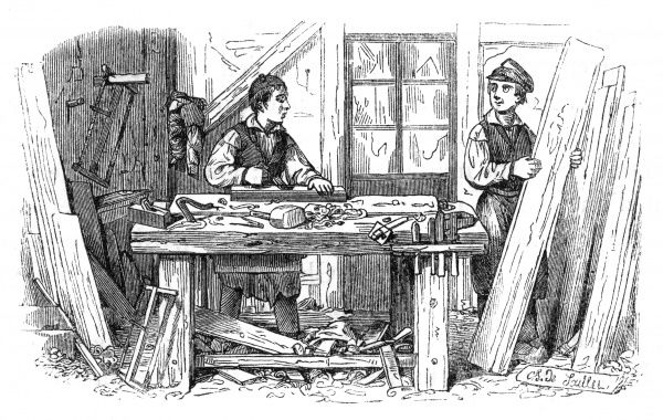 Carpenter's apprentice, France  1841