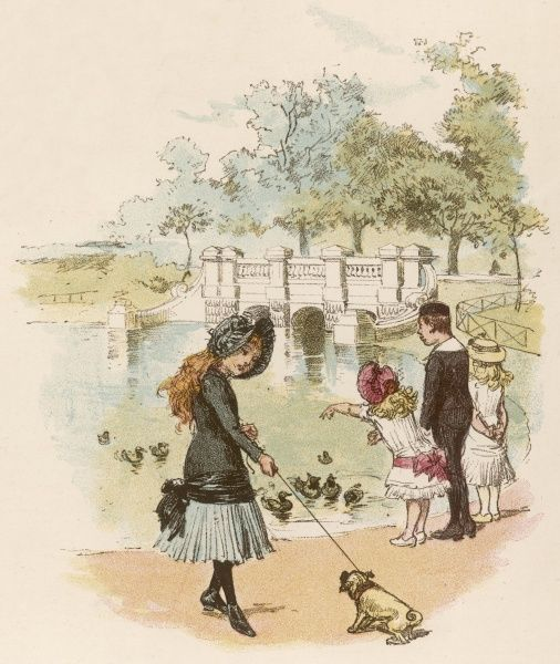 Children in Kensington Gardens, London