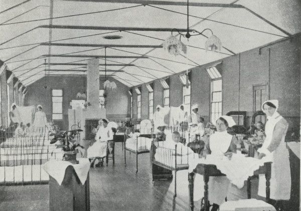 Children in cots and nurses in a ward of the Fountain Hospital at Tooting in Surrey (now South London)