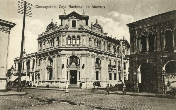 Chile - Concepcion - Caja Nacional de Ahorras (The National Savings Bank). Date: circa 1920