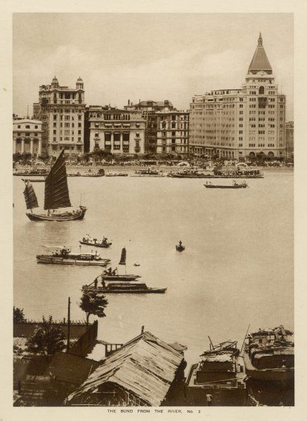 Shanghai: The Bund from the river (2 of 3)