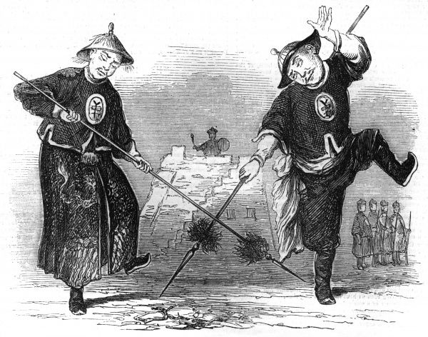 Chinese soldiers exercising Date: 1857