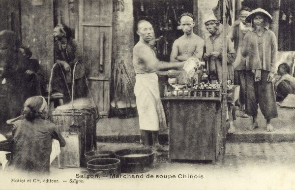 A street vendor of Chinese soup - Saigion, Vietnam Date: circa 1910s