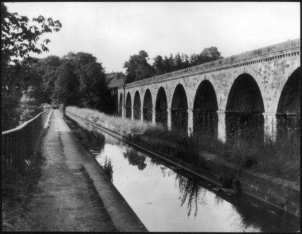 A fine photograph of the aqueduct carrying the Shropshire Union Canal, at Chirk, Denbighshire, Wales