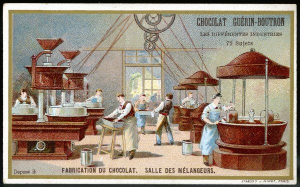 The manufacture of chocolate : the mixing hall