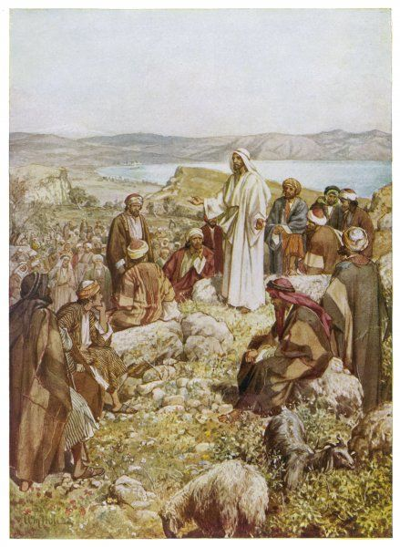 Jesus chooses his disciples, and then delivers the 'Sermon on the Mount&#39