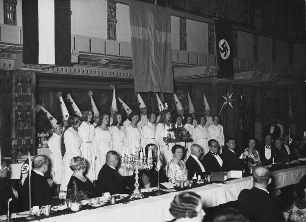 Lucia Festival of the German-Swedish student association in Berlin, Germany in 1934
