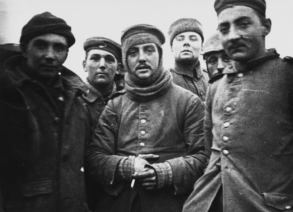 Fraternisation between German and English soldiers on Christmas Day 1914 on the Western Front in France during World War I