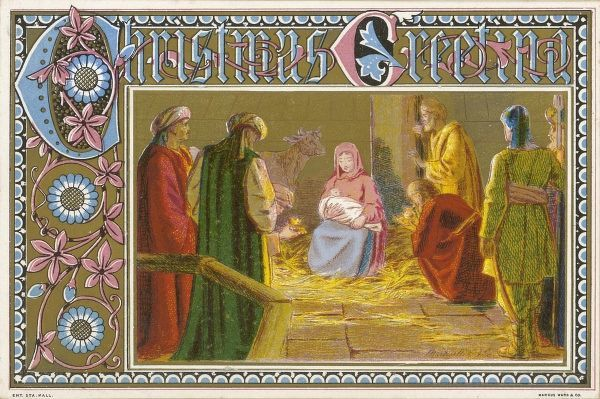 THE THREE WISE MEN arrive at the stable and present their gifts to the infant Jesus