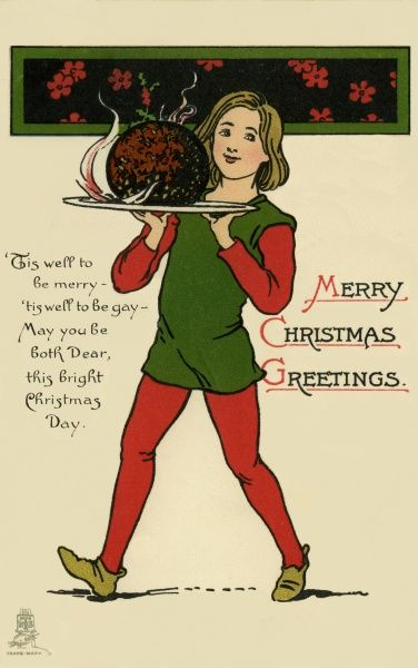 Christmas/New Year. Christmas pudding Date: circa 1910