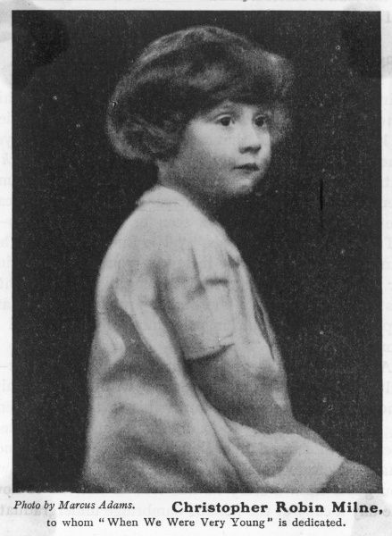 CHRISTOPHER ROBIN MILNE, bear- loving son of A A Milne who wrote a succession of books about him, delighting millions but nauseating others