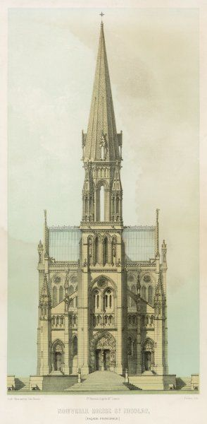 New church of Saint-Nicolas at Nantes - a fine example of 19th century Gothic