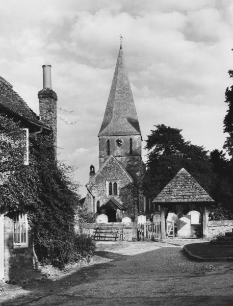 A lovely corner in the village of Shere, leading to its fine old church