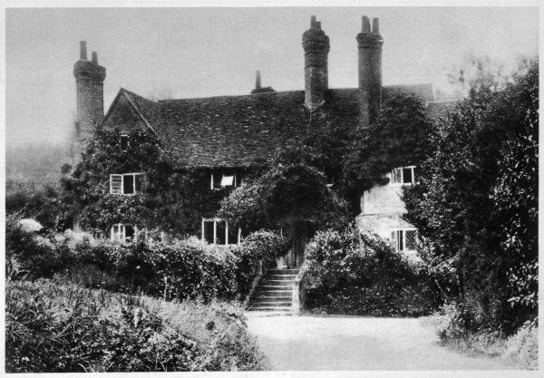 WINSTON CHURCHILL British statesman's home at Hoe Farm, Surrey, where he spent his leisure time painting landscapes