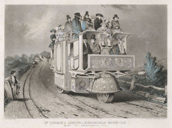 Dr Church, of Birmingham, develops the 'Leviathan' from a design by Trevithick. It carries 44 passengers daily between London and B'hm at an average 14 mph (22 km/h)