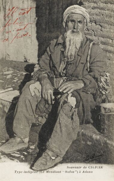 Sofou, a Turkish beggar from Adana, Cilicia, Turkey