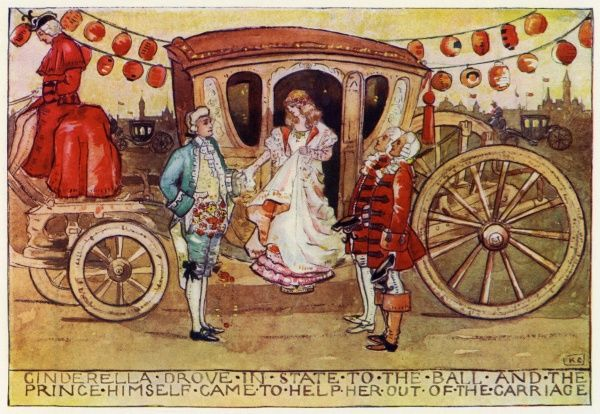 From Cinderella by Katharine Cameron. Cameron was a Glasgow born illustrator and an associate of Jessie M King and the Mackintoshes. 1904