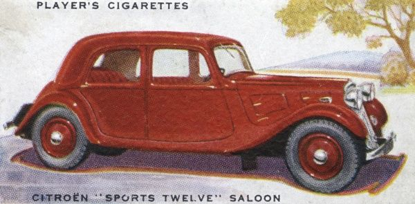 Citroen Sports Twelve Saloon. Date: 1937