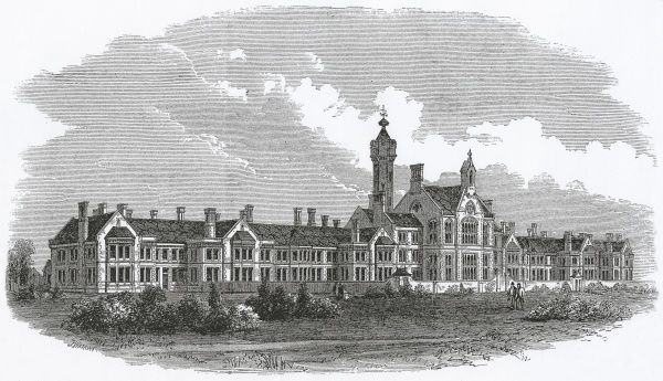 The City of London Lunatic Asylum for pauper lunatics was established in 1862 on Cotton Lane at Stone near Dartford, Kent. The buildings, designed by James Bunstone Bunning, later became City of London Mental Hospital, then Stone House Hospital