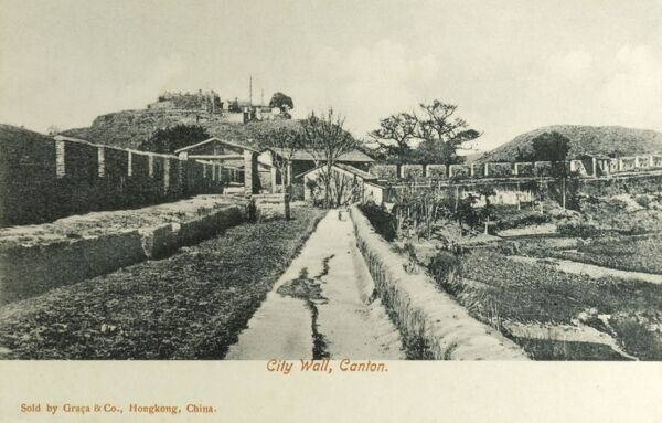Old City Wall - Guangzhou, China Date: circa 1906