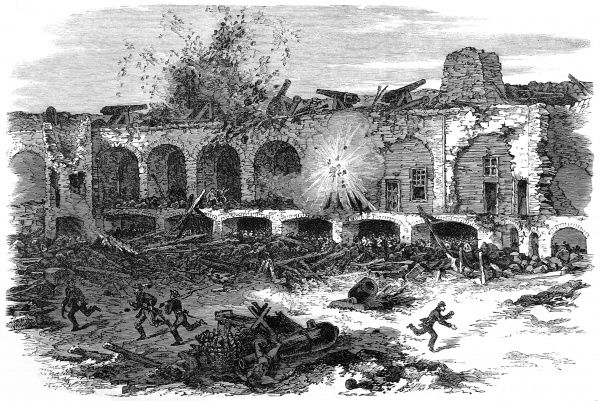 The interior of Fort Sumter, Charleston Harbour, after a continuous bombardment by the Federal batteries on Morr's Island