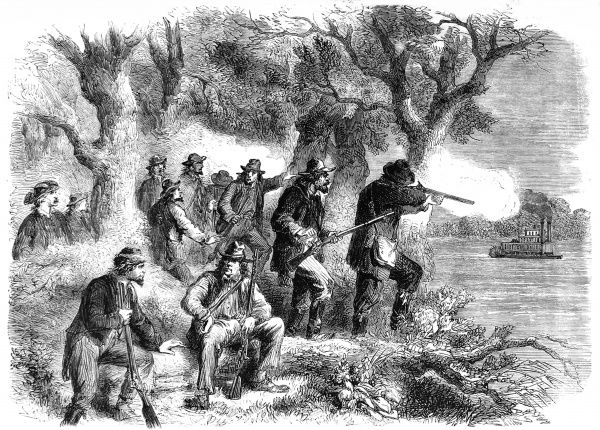 Confederate snipers under Jefferson Thompson making life difficult for the Unionists to advance