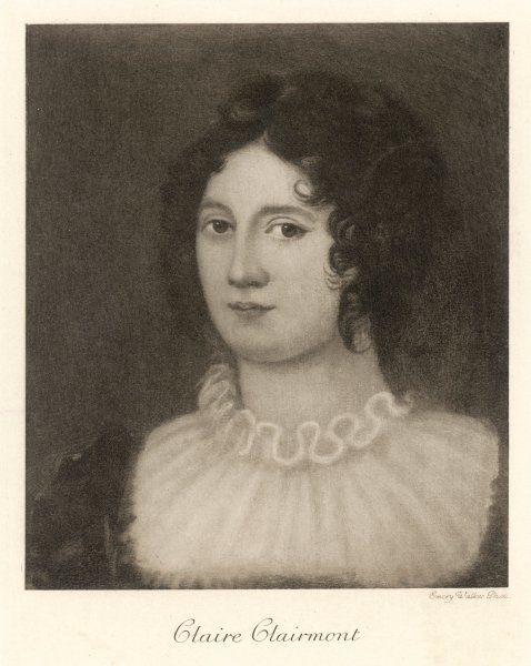 CLAIRE CLAIRMONT stepdaughter of William Godwin, and mother of Byron's daughter Allegra