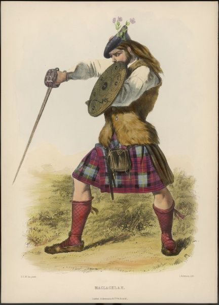 Clan MACKACHLAN demonstrating his swordsmanship and shieldmanship