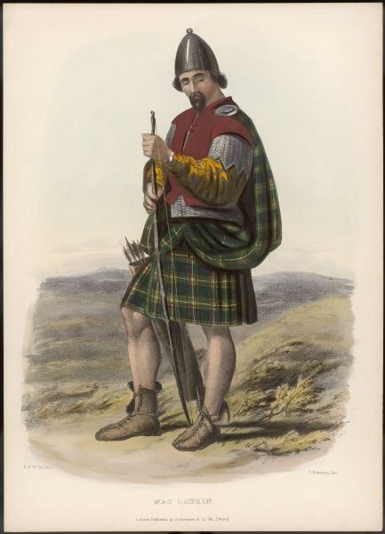 Clan MACLAURIN (same as Maclaren ?) with bow and arrow