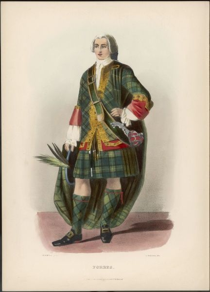Clan FORBES an 18th century gentleman dressed in the height of fashion