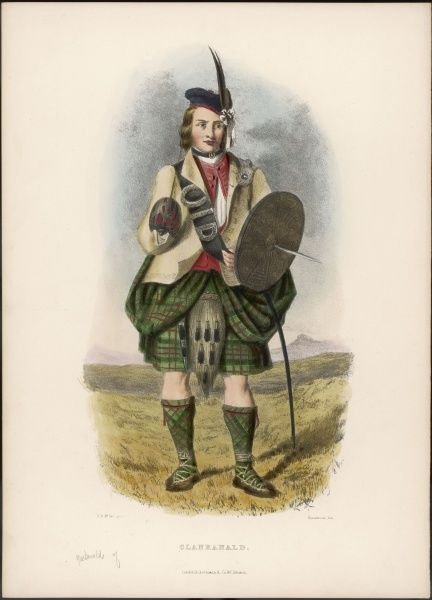 Clan RANALD with a spiked shield