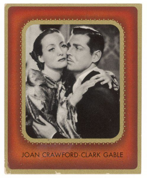 CLARK GABLE American film actor with Joan Crawford