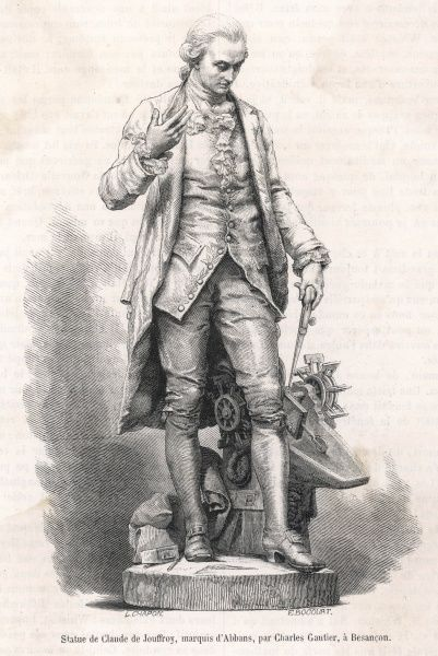 CLAUDE DE JOUFFROY, marquis d'Abbans French engineer