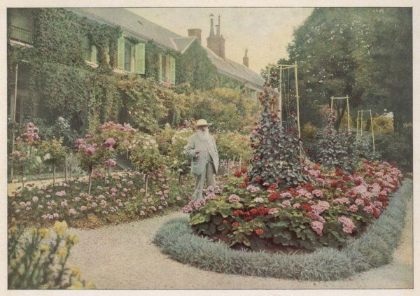 CLAUDE MONET French artist in his garden at Giverny