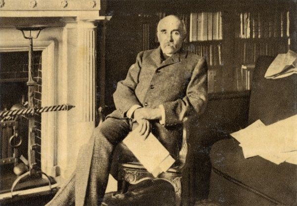 GEORGES CLEMENCEAU French statesman, photographed at his fireside in 1886 Date: 1841 - 1929