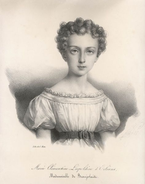 MARIE CLEMENTINE LEOPOLDINE d'ORLEANS - daughter of Louis Philippe, wife of August von Saxe-Coburg, mother of Ferdinand, king of Bulgaria