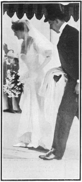 Clementine Hozier, arriving at St. Margaret's Church in Westminster for her marriage to Winston Churchill on 12th September 1908