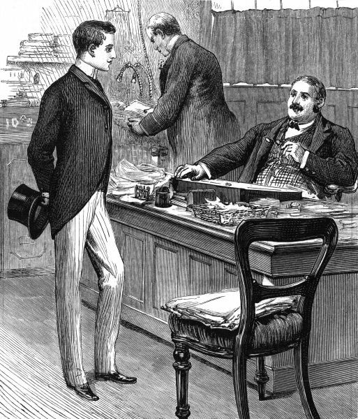 A young man is appointed as clerk, filling the post of his deceased father. Date: 1870
