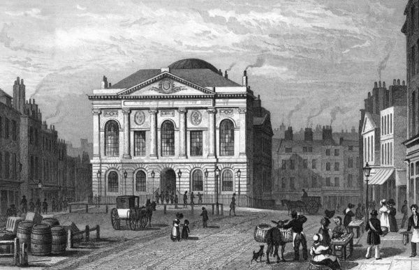 The Sessions House, Clerkenwell Green. Date: 1831