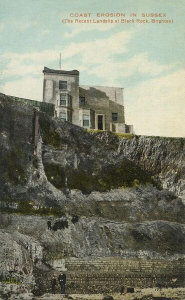 The 'recent landslip' at Black Rock, Brighton, Sussex