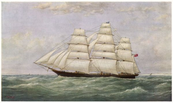 British sailing clipper for the China tea trade, which in 1868 won the ocean race from China to England